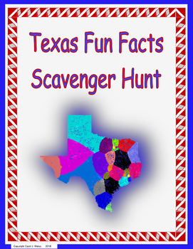 Texas Fun Facts Scavenger Hunt