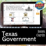 Texas Government Review Game BOOM CARDS for Distance Learning