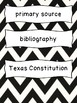 Texas Grade 4 Social Studies Word Wall