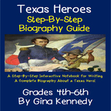 "Texas ""Hero"" Biography Interactive Notebook, Step-By-Step Guide"