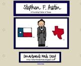 Texas Heroes - Stephen F. Austin - For Smartboard