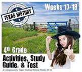 Texas History- Alamo, Goliad, San Jacinto-  Use with Texas Studies Weekly 17-18