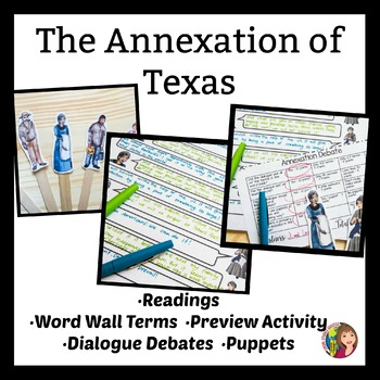 Texas Annexation during Westward Expansion Primary Sources and Debate