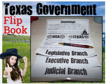 UNBUNDLED: Texas History- Branches of Government Flip Book