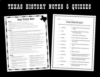 Texas History Activities Bundle