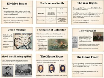 Texas History Bundle from Civil War Secession to the Cold War