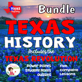 Texas History Bundle - with Texas Revolution