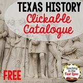 Texas History Clickable Catalogue {FREE}
