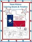 Texas History Coloring Sheets & Timeline Pt. 2 (1849-1860)