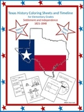 Texas History Coloring Sheets and Timeline (1821-1848)