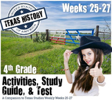 Texas History-Cowboys, Railroads, & Oil- Use with Texas Studies Weekly 25-27
