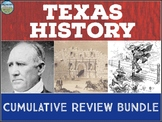 Texas History Cumulative Review Bundle
