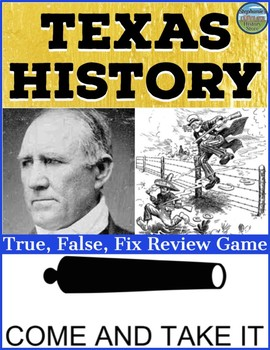 Texas History Cumulative Review Game