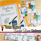 Texas History End of Year Escape Room Activity