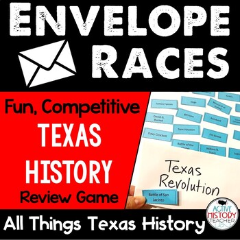 Texas History Envelope Races!  Fun review game!