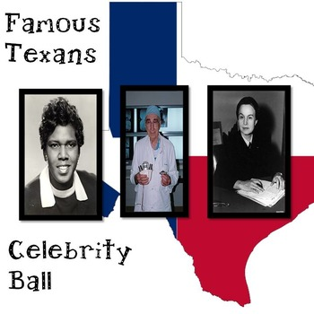 Famous Texans End of the Year Activity