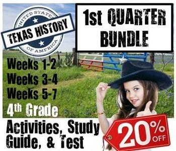 Texas History Bundle- Geog., Govt., Indians-  Use with Texas Studies Weekly