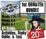Texas History Bundle Geog. Govt. Early Texans goes with Te