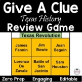 Texas History - Give a Clue - Review Game!
