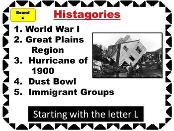 Texas History HISTAGORIES - Review Game!
