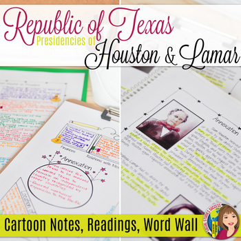 Republic of Texas The Presidencies of Houston and Lamar Activity