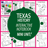 Texas History–Interactive Notebook Texas State Study Unit (TEKS Aligned)+AUDIO!