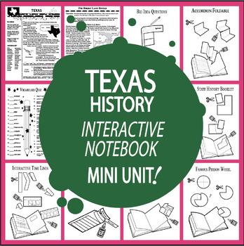 Texas History–Interactive Notebook Texas State Study Unit (TEKS Aligned)+AUDIO!