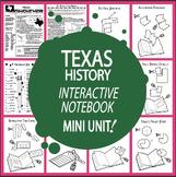 Texas History State Study Interactive Notebook Unit + AUDIO – TEKS-Aligned