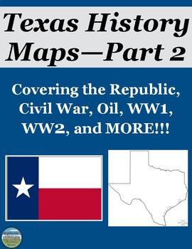 Texas History Map Activities