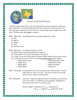 Texas History Map Project