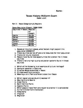 Texas History Midterm Exam