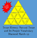 Texas History Natural Texas & Its People Vocabulary Diamond Match-up