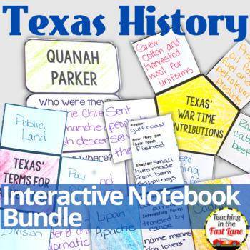 Texas History Interactive Notebook Bundle