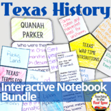 Texas History Interactive Notebook 4th Grade