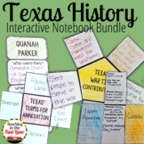 Texas History Interactive Notebook Bundle