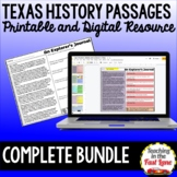 Texas History Passages Growing Bundle {Printable and Digit
