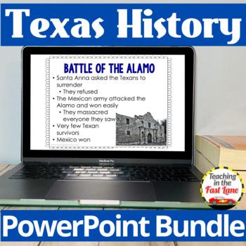 Texas History PowerPoint Bundle