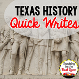 Texas History Quick Writes: Photo Writing Prompts