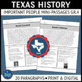 Texas History Reading Passages