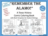 "Texas History: ""Remember the Alamo!"" Texas History Comic Coloring Book"