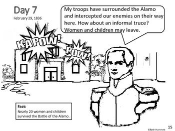 alamo battle coloring pages - photo#15