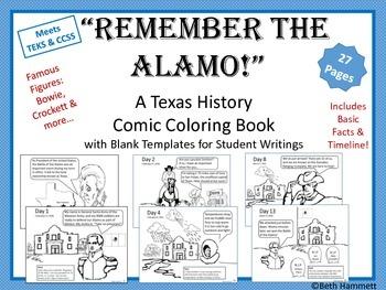 "Texas History: ""Remember the Alamo!"" Texas History Comic C"