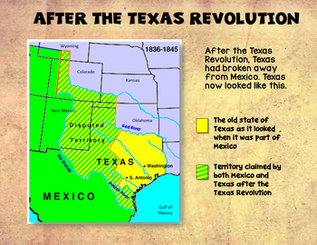 Map Of Texas Quiz.Texas History Republic Of Texas Powerpoint Notes And Quiz