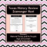 Texas History Review Scavenger Hunt (Units 1 2 and 3)
