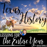 Texas History 7th Grade Curriculum Bundle of Activities wi