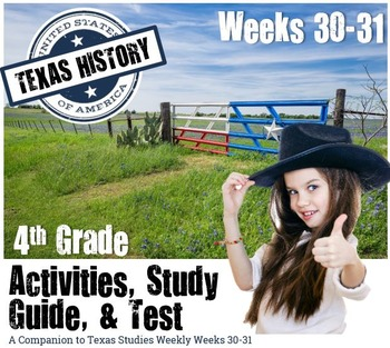 Texas History-Six Flags, Texas Pride- Use with Texas Studies Weekly 30-31
