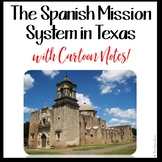 MISSIONS OF TEXAS with Doodle NOTES for Texas History 7th Grade