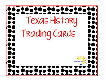 Texas History Student Cards