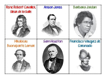 Texas History Student Cards AND Posters