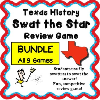 Texas History - Swat the Star Review Game - BUNDLE - Full Year of Review 9 games